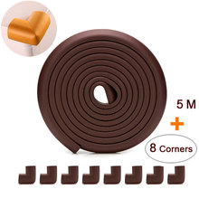 5 M+8pcs Corners Child Protection Corner Protector Baby Safety Guards Edge & Corner Guards Angle Form Free Tape Dropshipping