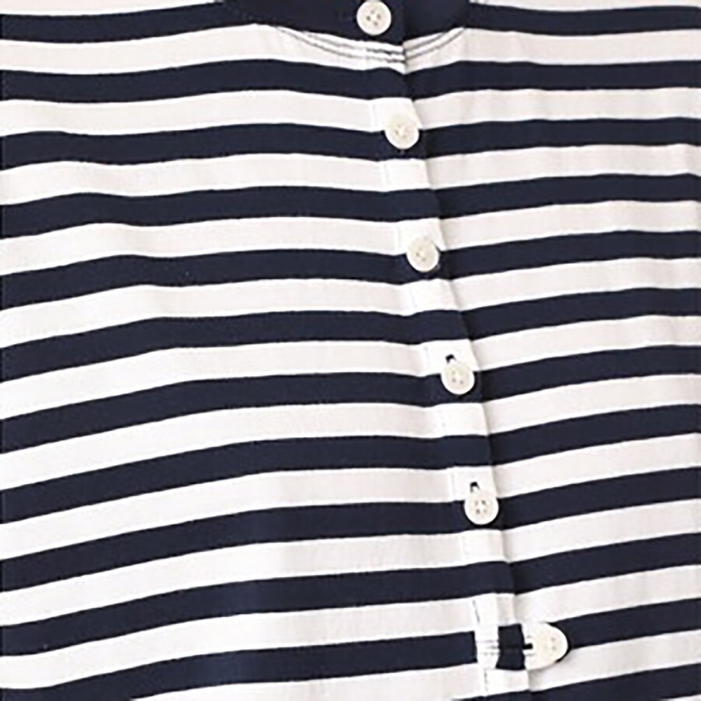 2018 New Fashion Sunmmer Style Black and White Striped Stitching Ruffles T-shirt Clothing Short Sleeve Solid Color T-shirt Tops