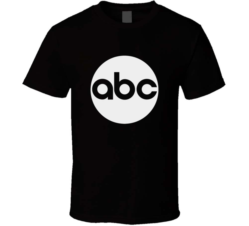 Hot Sale 100 % Cotton Tee Shirt abc Channel Tv New Mens Black T-Shirt short sleeve
