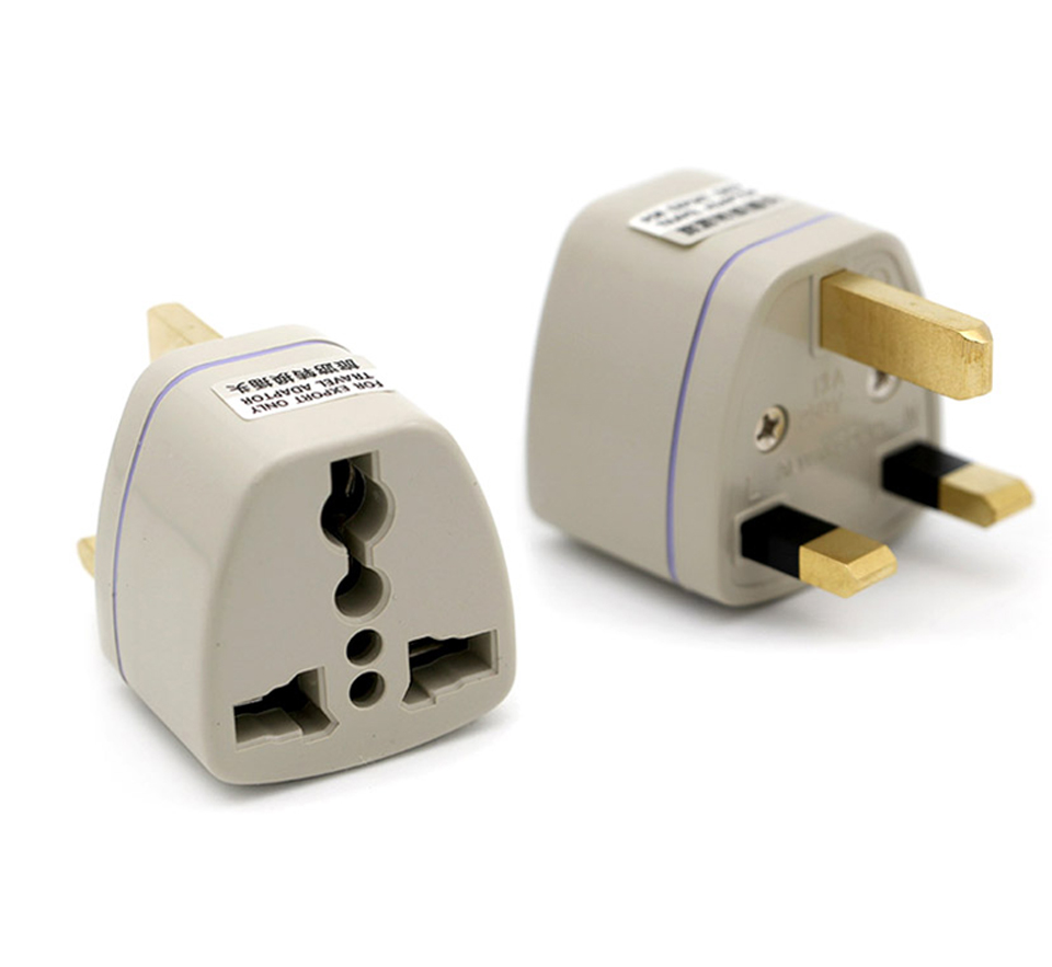 Multifunctional EU US AU to UK Plugs adapter Power Converter Plugs 2 Pin Socket EU to England Travel Charger Adapter Converter (11)