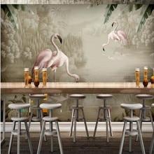 Ручная роспись акварелью растение Фламинго фоновая стена на заказ большая настенная для домашнего интерьера обои Фотообои