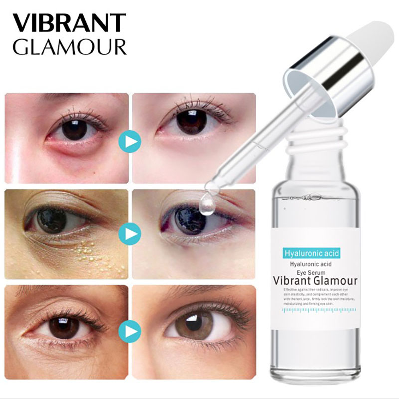 New Hyaluronic Acid Eye Serum Anti-Wrinkle Remover Dark Circles Eye Essence Against Puffiness Anti Aging Ageless Instantly