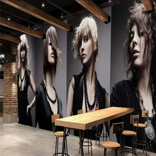 Beauty salon sexy beauty barber shop wall professional production wallpaper mural