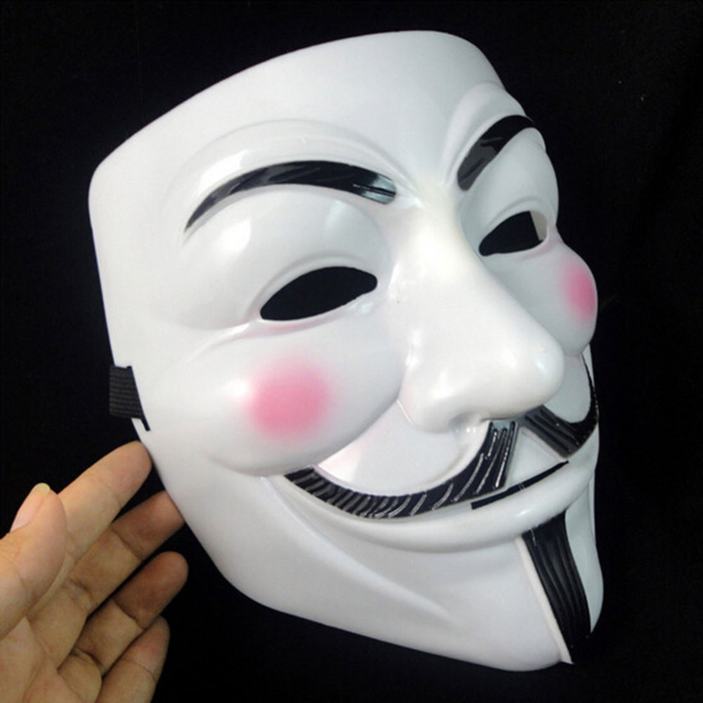 Image 3 - Hot Sale White/Gold/Silver/Yellow V for Vendetta Guy Fawkes Mask Anonymous Halloween Cosplay Costumes Party Supplies Scary prop-in Party Masks from Home & Garden