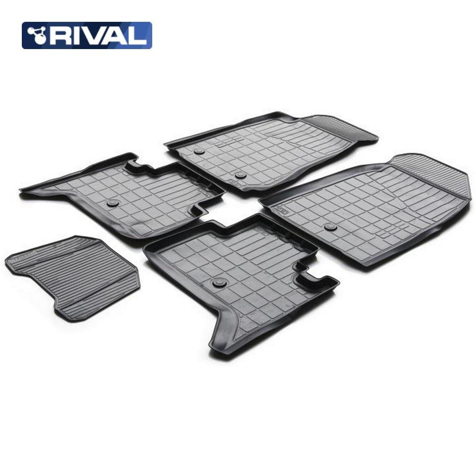 For Chevrolet Trailblazer 2012-2015 floor mats into saloon 5 pcs/set Rival 11008001