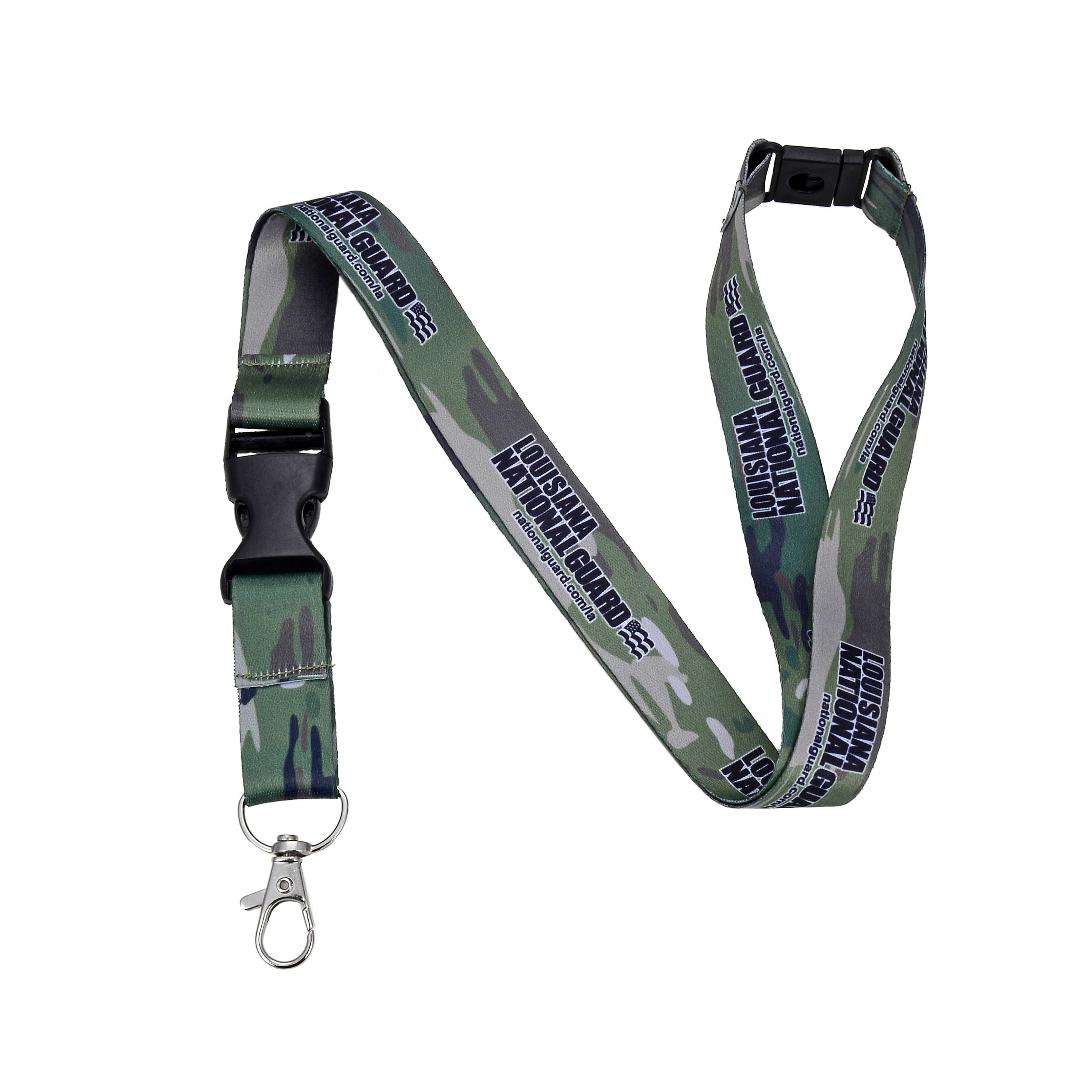 Any quantity to Order Personalized Army print Camo Lanyards for business retractable neck lanyards custom printed