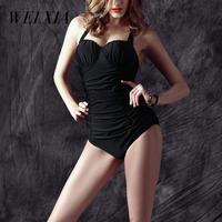 Christmas Gift Sale WEIXIA Push Up Swimsuit Black Swimwear Swimming Suit Women One Piece Brazilian Beach