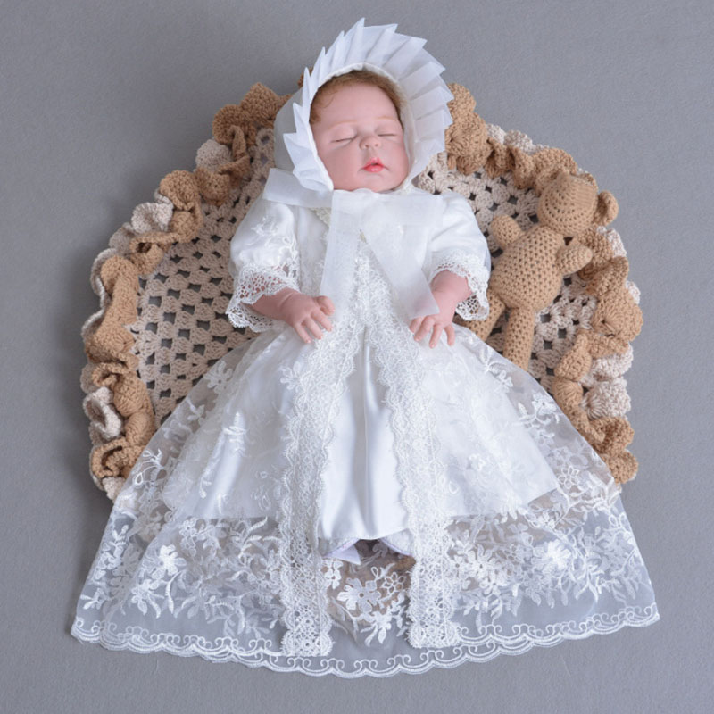 Newborn Baby Dress Summer Lace Baby Girls Dress Photo Props Kids Infant Clothes Baby Girls Embroidery Outerwear Princess Dress