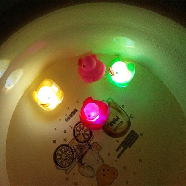 Induction light baby ducks floating flash bath light emitting toys ...