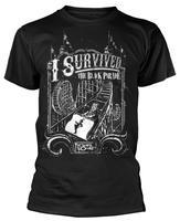 Pas cher Graphique T Chemises De Mode 2018 Hommes O-cou À Manches Courtes My Chemical Romance Survécu T-Shirt T-shirts