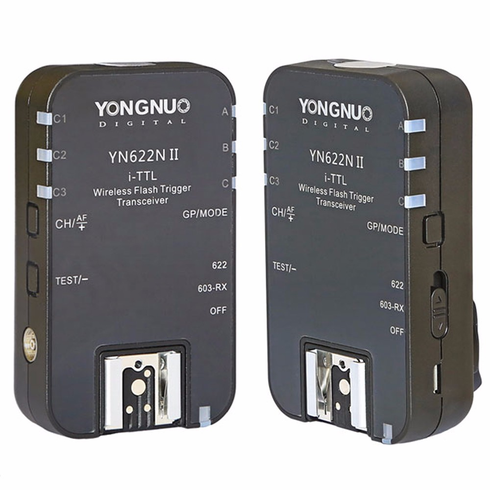 YONGNUO YN-622N II YN622N II TTL Wireless Flash Trigger for Nikon D800 D700 D600 D610 D300 3pcs yongnuo wireless ttl flash trigger yn622 yn 622 yn622n tx for nikon radio 1 8000s d7100 d5200 d5100 d5000 d3200 d3100 d3000