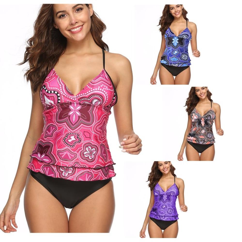 Бикини из чистого пламени купальники женское с цветочным узором Maillot De Bain Femme купальный костюм с пуш-ап женский