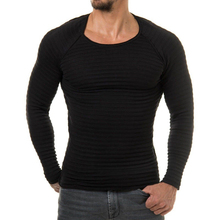 Men's Casual Slim Fit Round Neck Plain Knitwear Jumper Pullover Basic Sweater