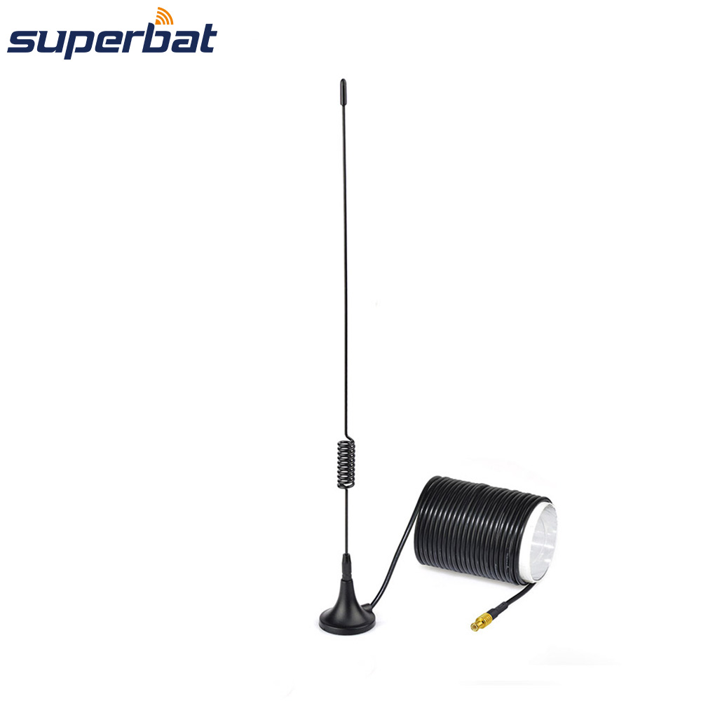 Superbat 100KHz-1766MHz MCX Magnetic Antenna For RTL2832U R820T2 RTL SDR USB Stick Dongle