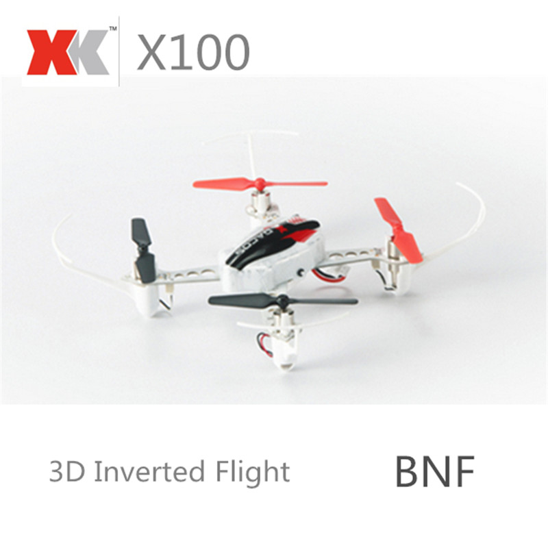 XK X100 With 3D 6G Mode Inverted Flight 2.4G 4CH 6 Axle LED RC Quadcopter BNF And RTF