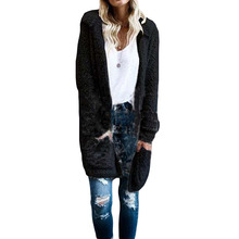 New Fashion Autumn Women Hooded Long Sleeve Long Cardigans Both Sides Wear Jackets Open Front Hoodies Sweater Outwear Coats