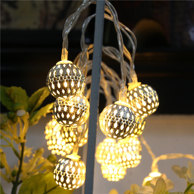 20 Moroccan String Light Battery Operated Led Fairy Lights New Year Wedding Party Outdoor Colorfully