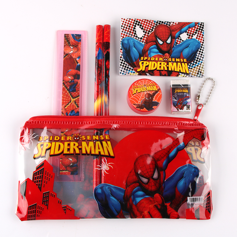 12pcs Cute Pencil Box Boy Girl Favorite Spider Man Sticker Pencil Stationery School Supplies Free Shipping Free shipping allblue slugger 65sp professional 3d shad fishing lure 65mm 6 5g suspend wobbler minnow 0 5 1 2m bass pike bait fishing tackle