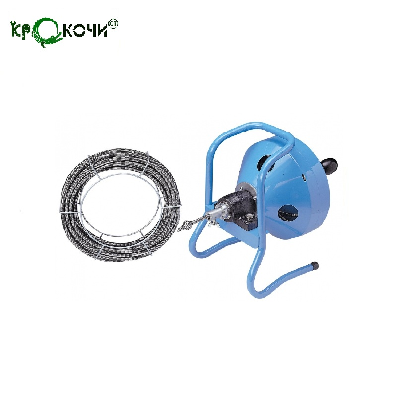 Machines for removal of a blockage of drum type with the manual drive for pipes up to 30 meters Cleaning machine 3081423 ssg s103b diamond dies wire guide 87 3 type id0 255mm manual upper