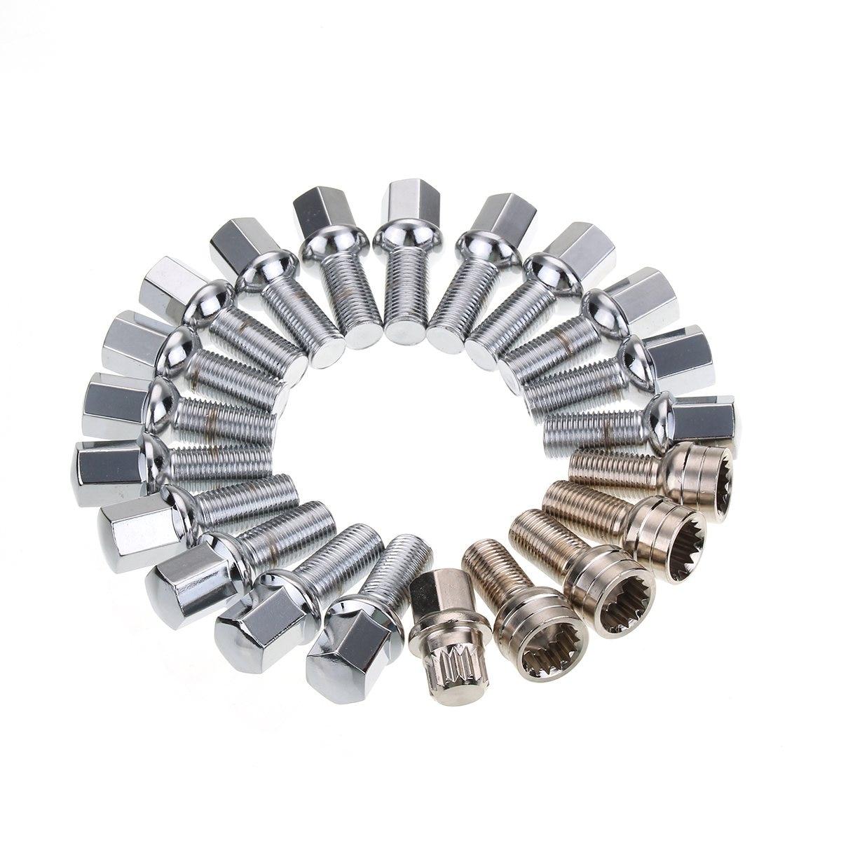 21Pcs Set Alloy Wheel Plain Lock Bolts Lug Nuts For VW Transporter T4 T5 1990 2017