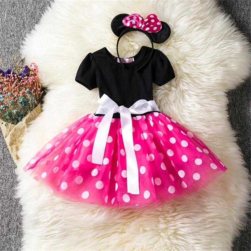 Princess Party Costume Infant Children Clothing Toddler Baby Clothes First Birthday Girls Tutu Dress Headband Kids Ballet Dress crown princess 1 year girl birthday dress headband infant lace tutu set toddler party outfits vestido cotton baby girl clothes