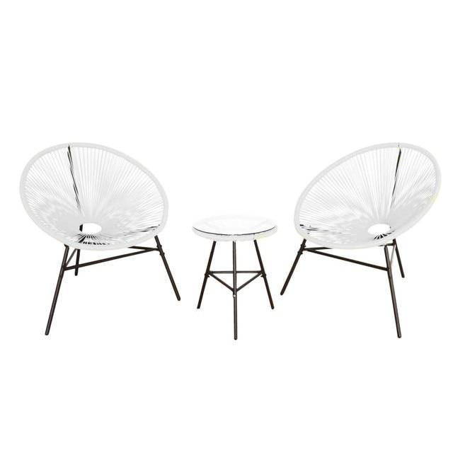 KieferGarden。パック 2 アカプルコ椅子。ガーデン家具。屋外家具。椅子屋外ガーデン。屋外の椅子。ガーデンチェア