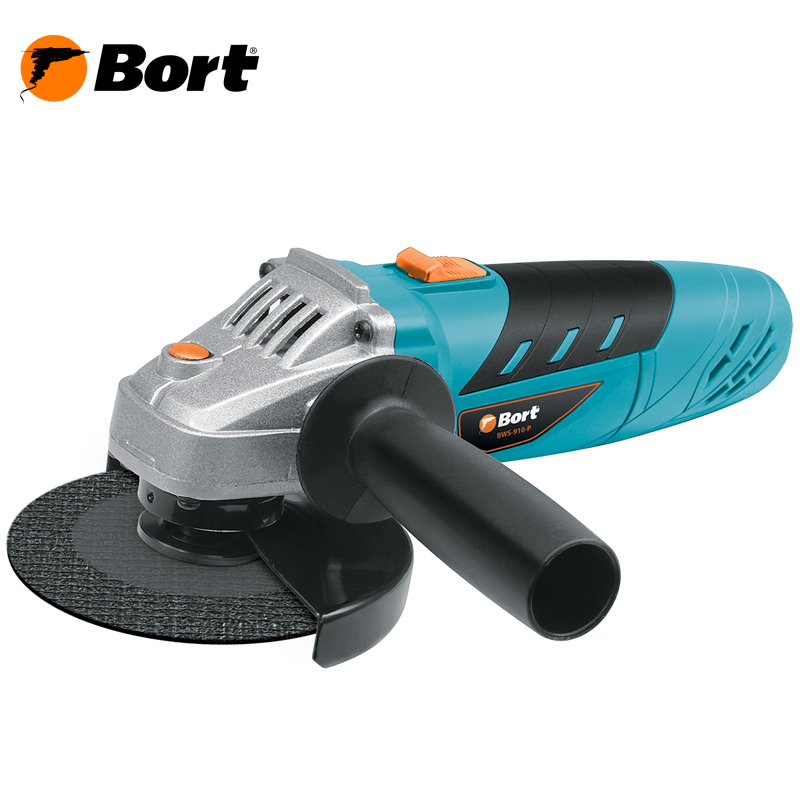 BORT Angle Grinder bulgarian USHM Grinding machine Electric grinder Angle Grinder grinding Power or cutting metal portable Woods Steel Power Tool Warranty BWS-910-P angle grinder energomash ushm 90112