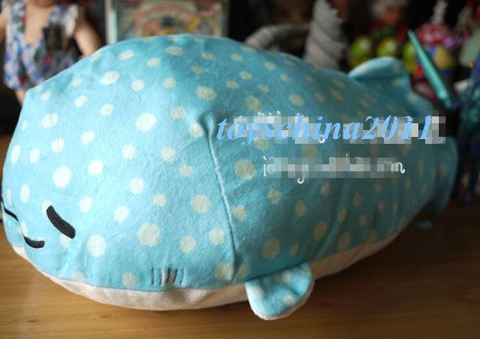 San-X Jinbesan Super Mochi mochi Plush Doll Whale with Cup 50CM Large Cushion