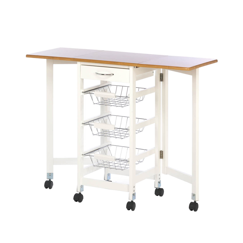 Koehler Home Decorative Extended Kitchen Table Trolley