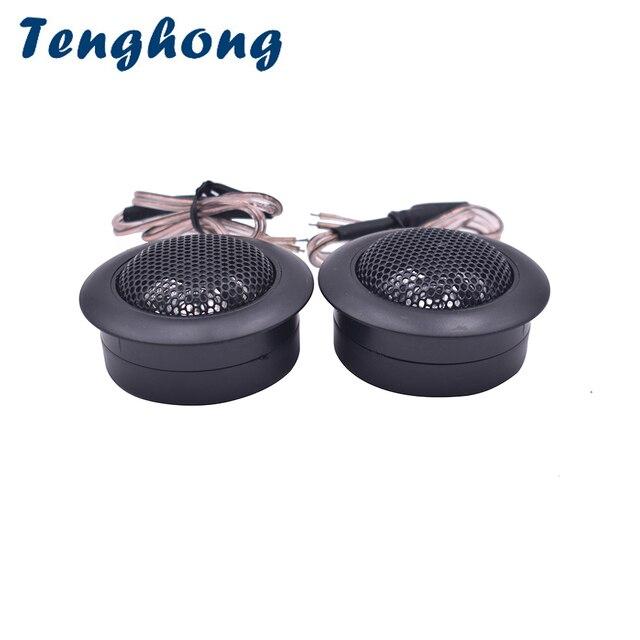 Tenghong 2pcs Dome Tweeter 4Ohm 30W Audio Auto Sound Car Audio Treble Speaker Super Power Car Modification Loudspeaker DIY
