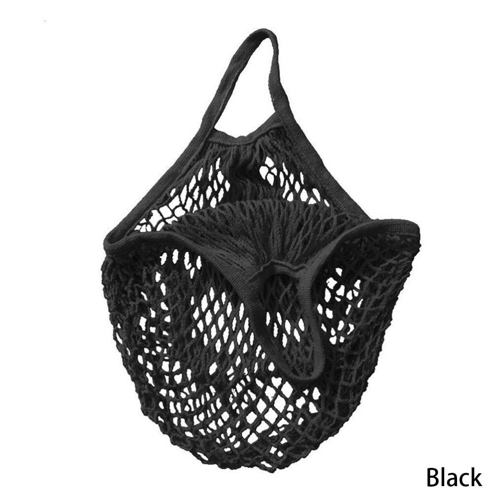 1PC Reusable String Shopping Grocery Bag Shopper Tote Mesh Net Woven Cotton Bag Hand Totes