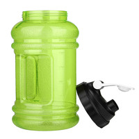 2 2L Water Bottle Big Mouth PE TG Training Drink Large Capacity Kettle For Outdoor Picnic