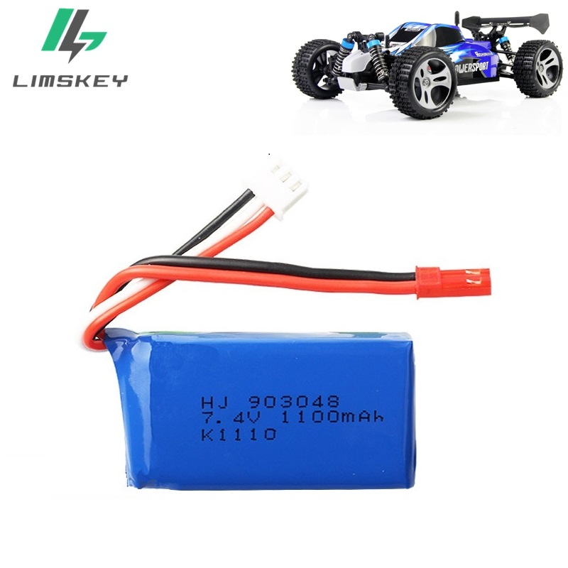 Image 2 - 3Pcs for Wltoys A949 A959 A969 A979 K929 LiPo Battery 7.4V 1100mah 903048 25c Lipo Battery For RC Helicopter Airplane Cars Boats-in Parts & Accessories from Toys & Hobbies