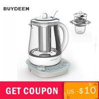 Buydeem 9 в 1 Здоровье уход за напитками чай чайник стекло 1.5L сохранение здоровья горшок программируемый варить плита мастер K2683