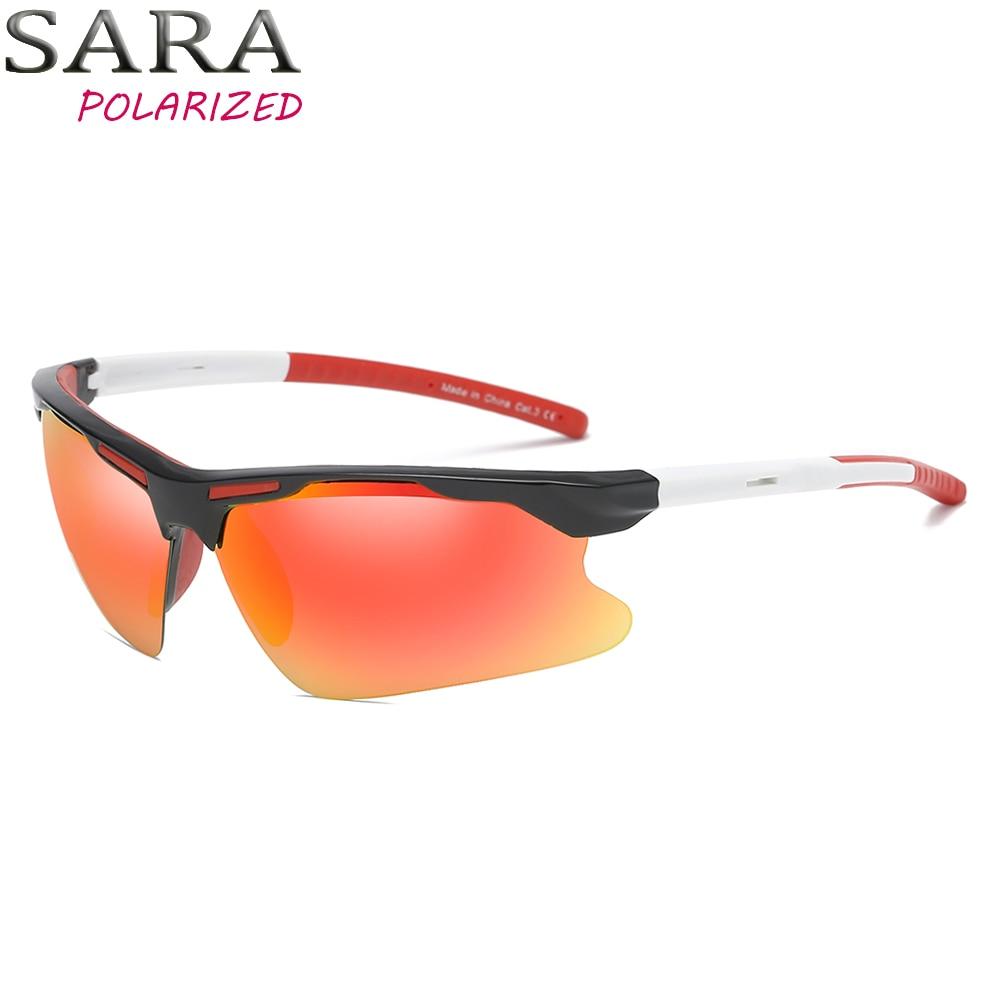 SARA Retro napszemüvegek férfiak Polarizált 2018 vezetés férfi - Ruházati kiegészítők
