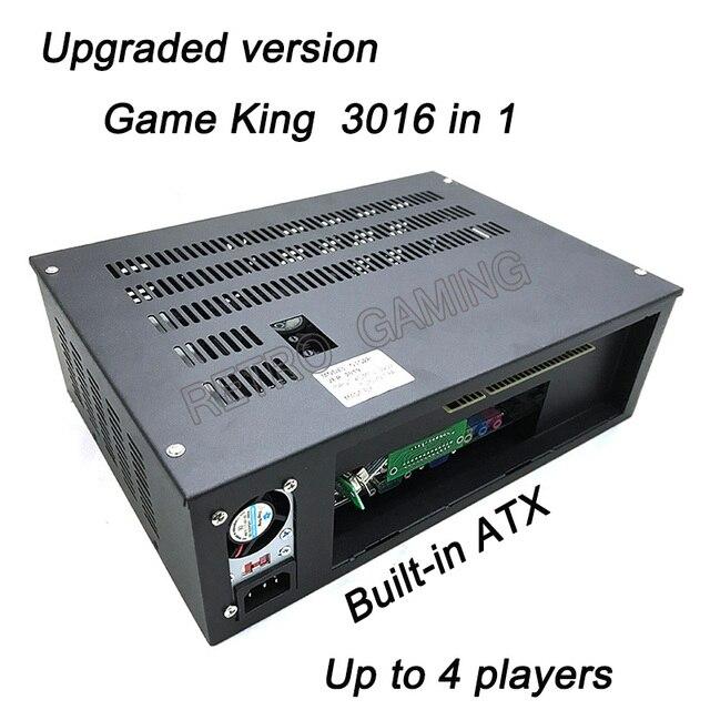 חדש 3016 ב 1 משחק מלך 2019 רב משחק קלאסי לוח HDD/SSD מובנה בכרטיס ATX כוח אספקת לקבינט ארקייד משחק מכונת