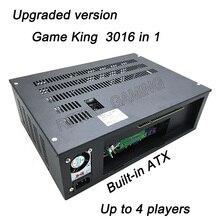 Yeni 3016 1 oyun kral 2019 çoklu oyun klasik tahta HDD/SSD kart dahili ATX güç kaynağı için arcade kabine oyun makinesi