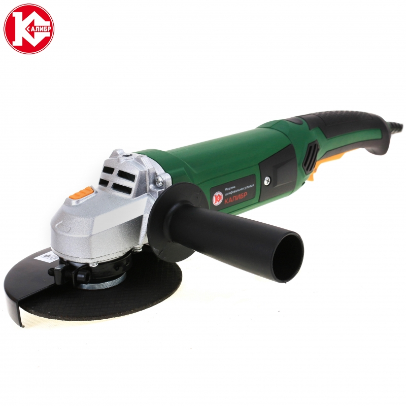 Electric tool Angle grinder Kalibr MSHU-125/1200, disc 125mm, power 1200W, angular power tool for grinding and cutting metall electric tool angle grinder kalibr mshu 115 750 disc 115mm power 750w angular power tool for grinding and cutting metall