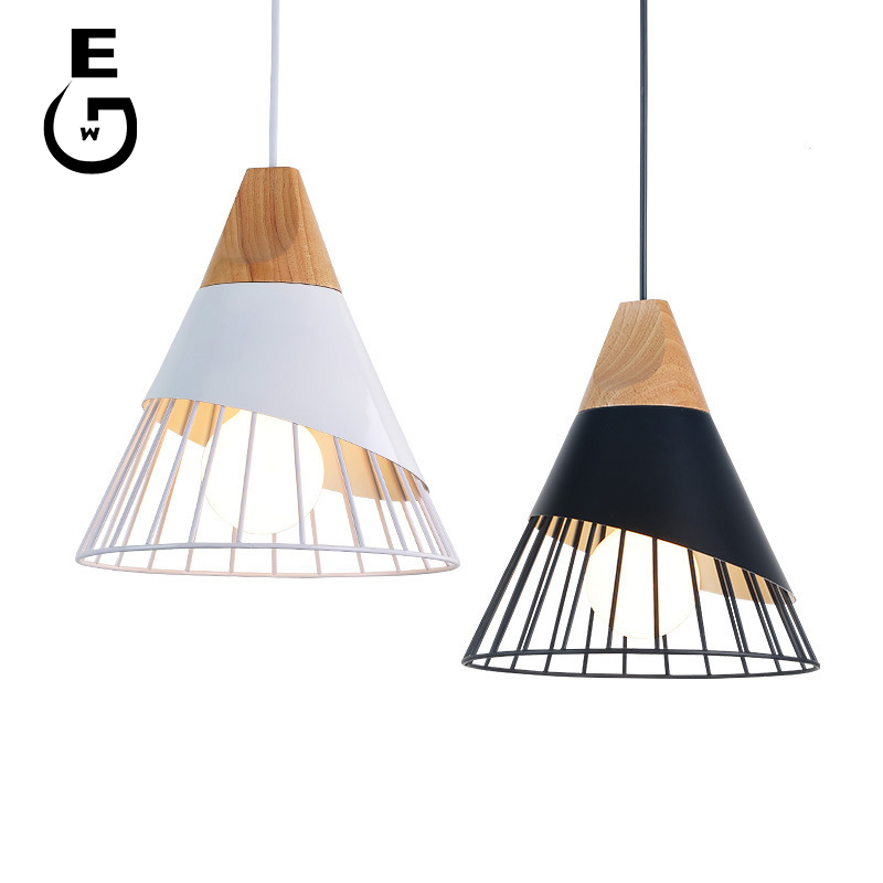 Pendant Lights Iron Ring Strip Kitchen Hanging Lamps Rectangular Cafe Restaurant Bar Living Room Bedroom Study Pendant Lights Modern Hanglamp Handsome Appearance Lights & Lighting