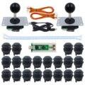 SJ @ JX 2 игрока Retropie SANWA 4 и 8 Джойстик PC MAME Arcade матовая Кнопка USB энкодер Нулевая задержка аркадная игра DIY Kit