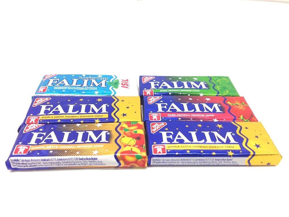 Falim Sugarless Chewing Gum , Sugar Free , 6 Tastes 100 Piece , Delicious Taste()