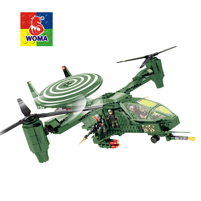 Military Educational Building Blocks Toys For Children Kids Gifts Helicopter Compatible with Legoe verrypuzzle clover magic cube speed twisty puzzle cubes game educational toys gifts for kids children