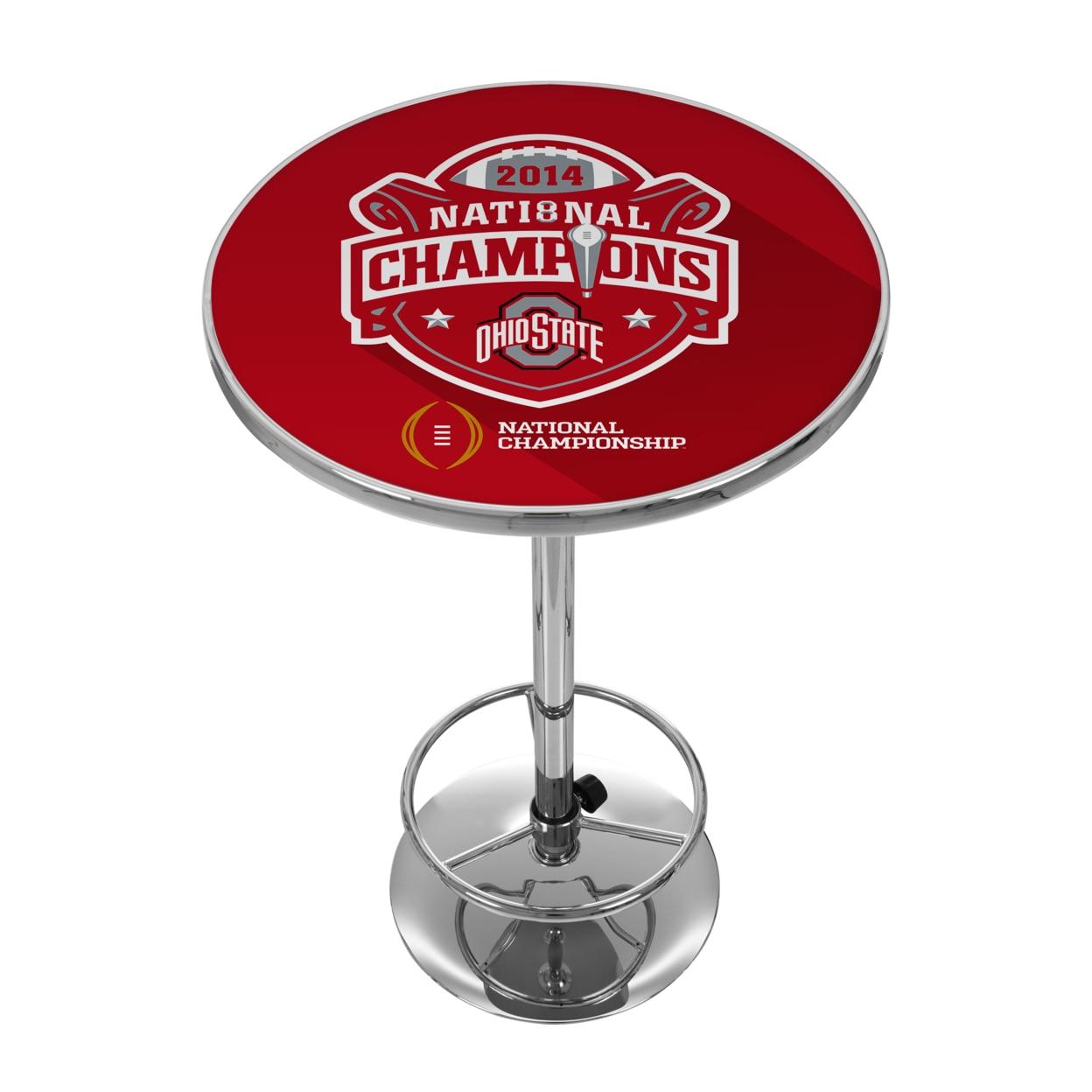 Ohio State University National Champions Chrome 42 Inch Pub Table ботинки meindl meindl ohio 2 gtx® женские