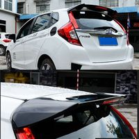 New Brand ABS Plastic Unpainted Primer Color Rear Boot Trunk Wing Spoiler Car Accessories For Honda Fit Jazz 2014 2015 2016 2017