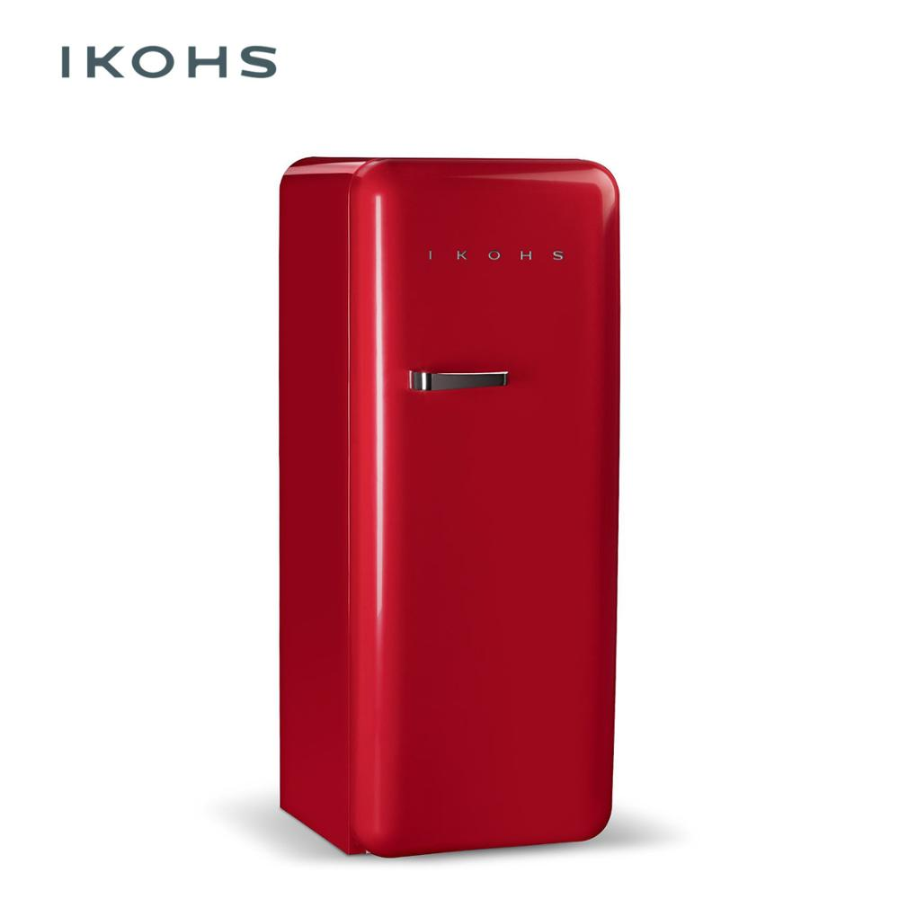 IKOHS - RETRO FRIDGE - RED - 150L