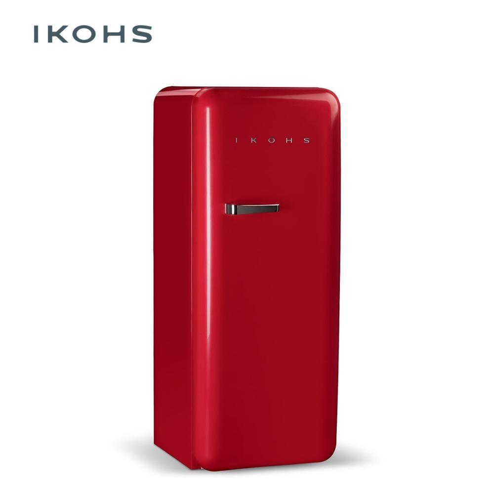 IKOHS - RETRO FRIDGE - RED - 150L