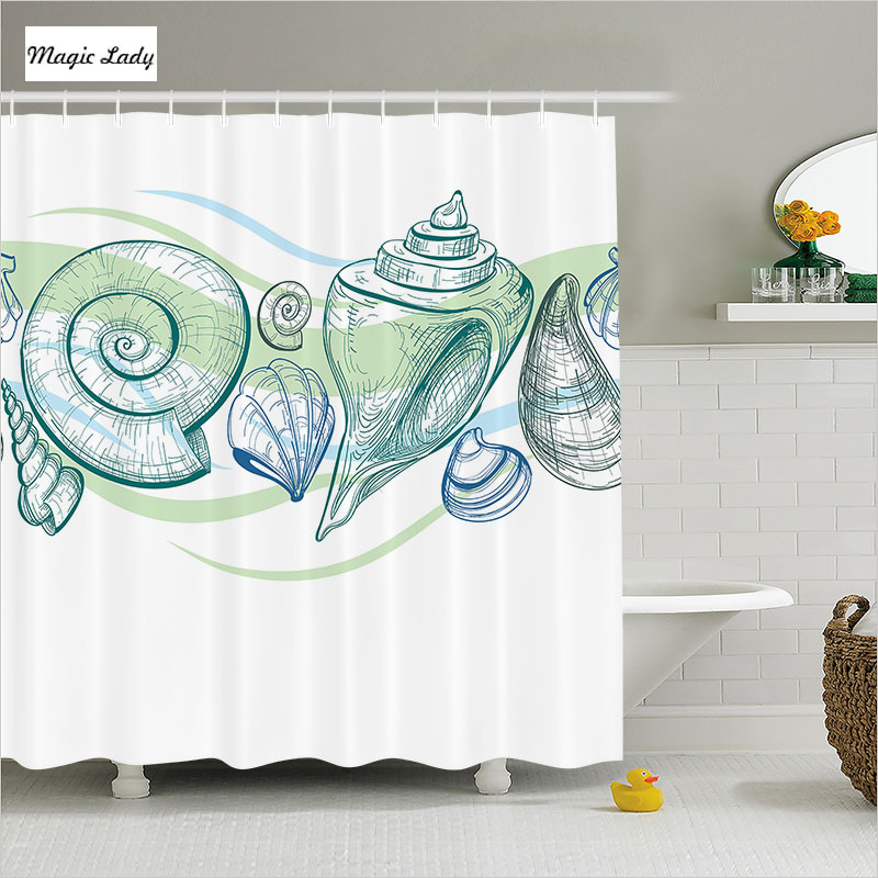 Shower curtain for curved bathroom accessories pastel for Sea green bathroom accessories