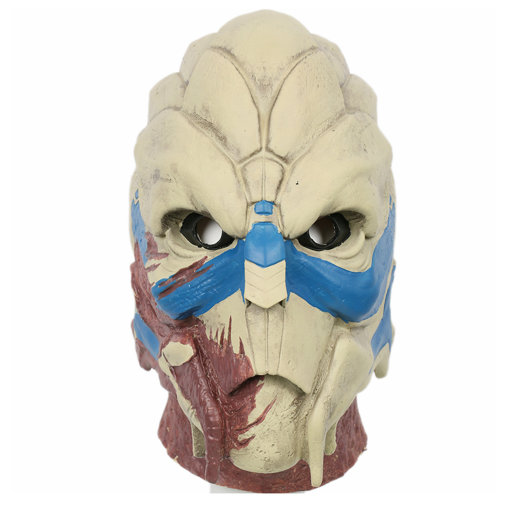 Clearance Mass Effect Garrus Vakarian Helmet Halloween Horrible Full Face Mask Cosplay Costume Props Party Decor Accessories