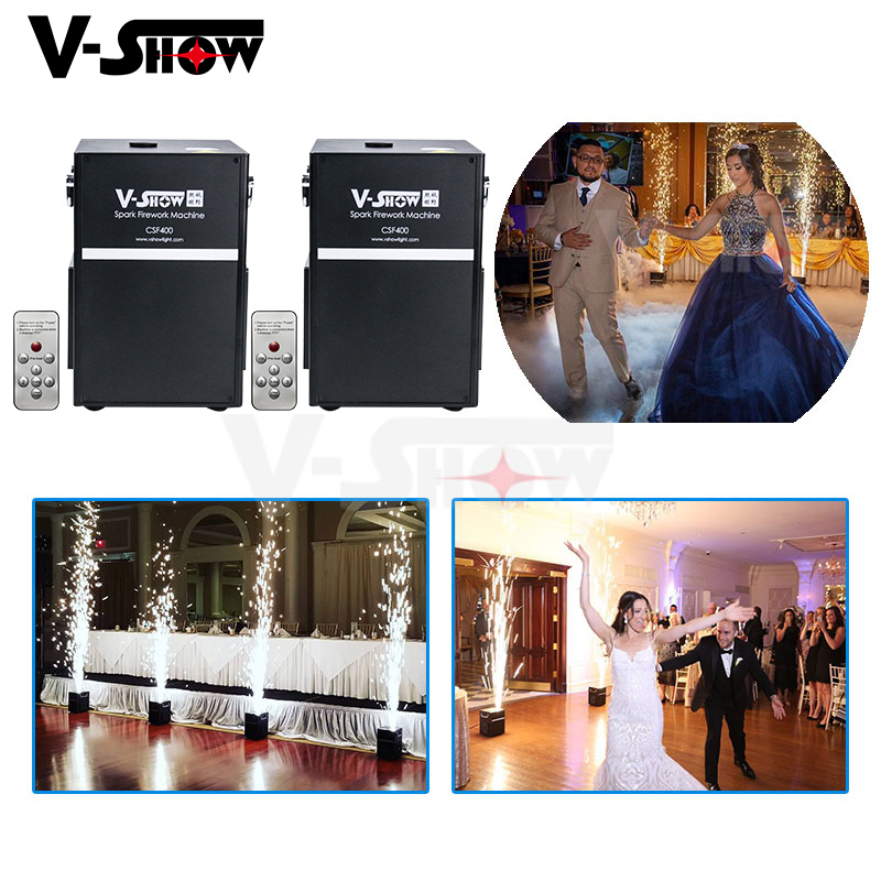 2pcs Wedding Fireworks Machine 400W Cold Spark Fountain Firework Machine For Events Fireworks Display Dmx And