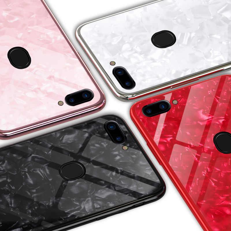 Блестящее стекло Крышка для Vivo V 9 7 возраста от года до 5 лет 97 71 69 85 83 81 66 67 75X23 флэш-Мрамор закаленное Стекло на заднюю панель для телефона Fundas бренд